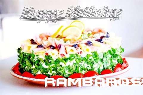 Happy Birthday Cake for Rambarose