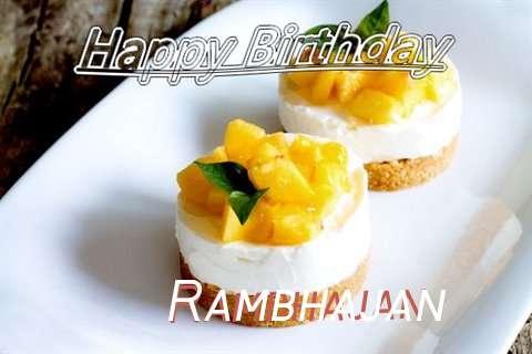Happy Birthday to You Rambhajan