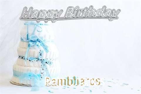 Happy Birthday Rambharos Cake Image