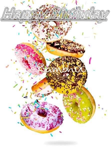 Happy Birthday Rambhool Cake Image