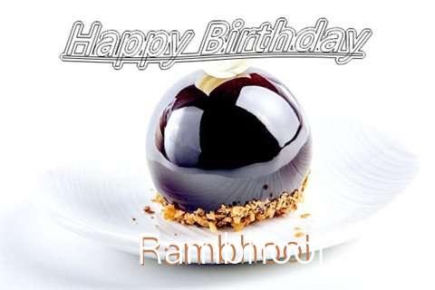 Happy Birthday Cake for Rambhool