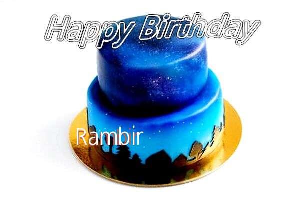 Happy Birthday Cake for Rambir