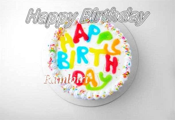 Happy Birthday Rambiri