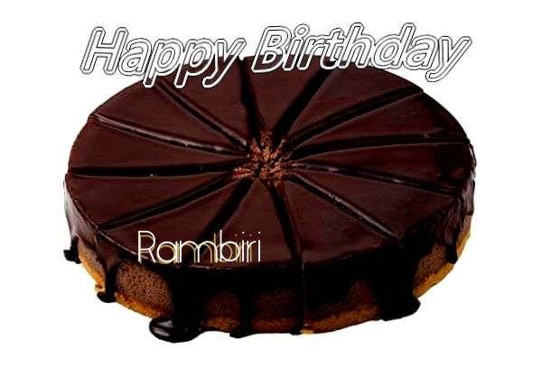 Rambiri Birthday Celebration