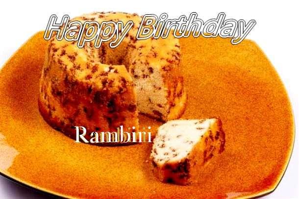 Happy Birthday Cake for Rambiri