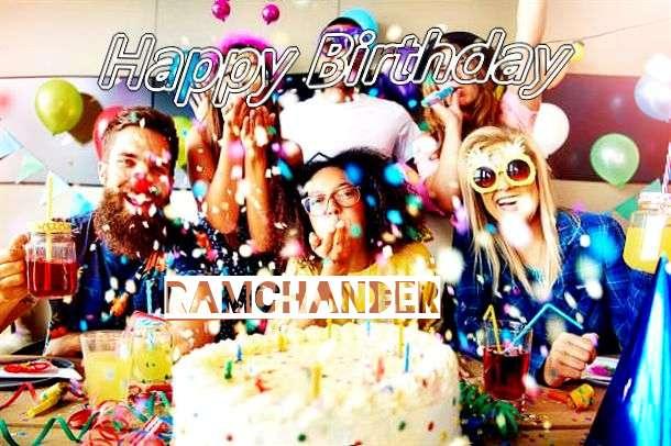 Happy Birthday Ramchander Cake Image