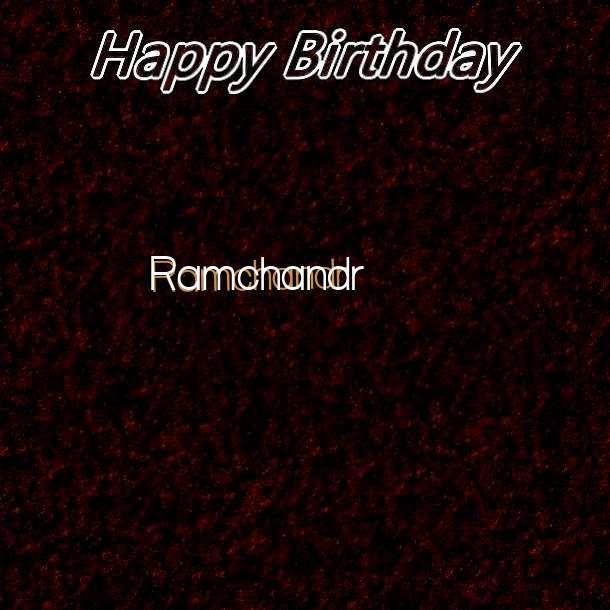 Happy Birthday Ramchandr Cake Image