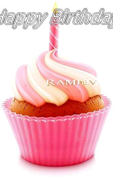 Happy Birthday Cake for Ramdev