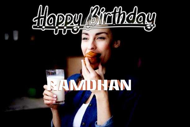Happy Birthday Cake for Ramdhan
