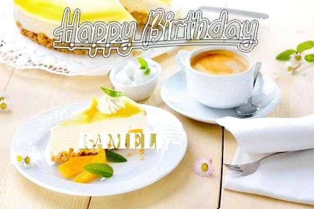 Happy Birthday Ramell Cake Image