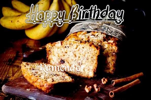 Happy Birthday Cake for Ramender