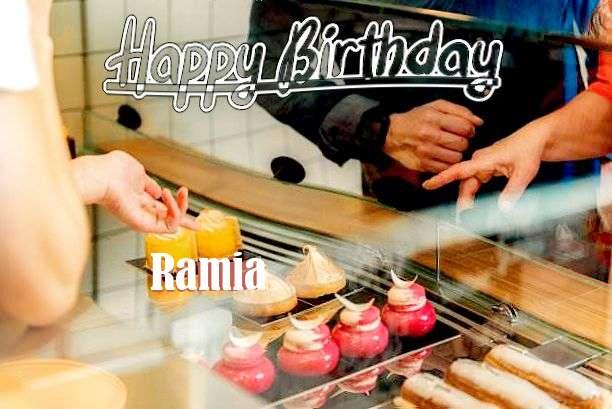 Happy Birthday Ramia Cake Image