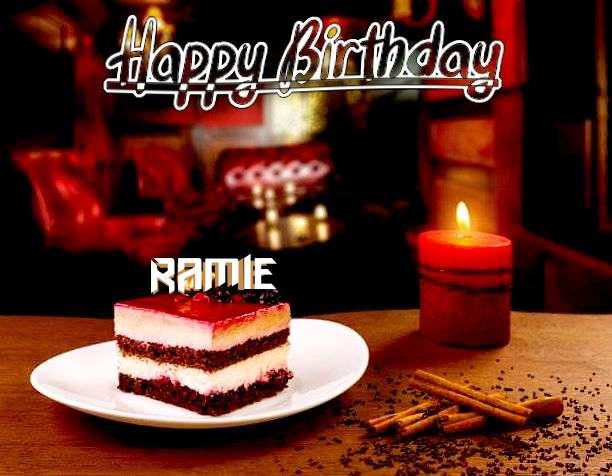 Happy Birthday Ramie Cake Image