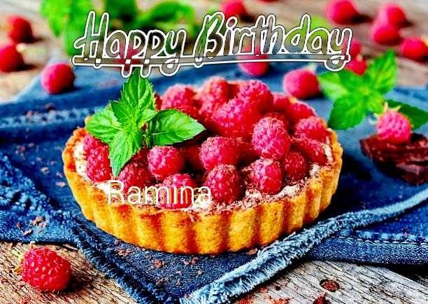 Happy Birthday Ramina Cake Image