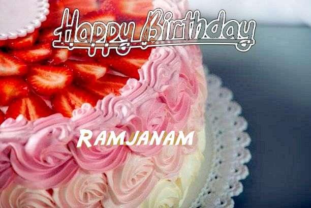 Happy Birthday Ramjanam Cake Image