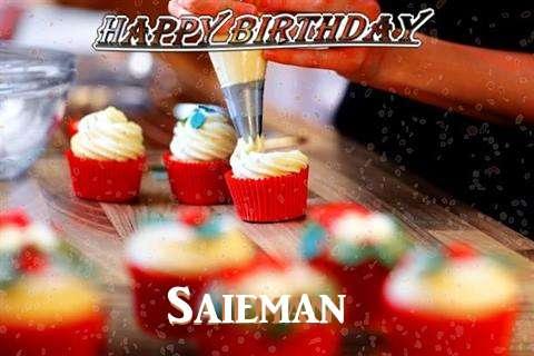 Happy Birthday Saieman Cake Image