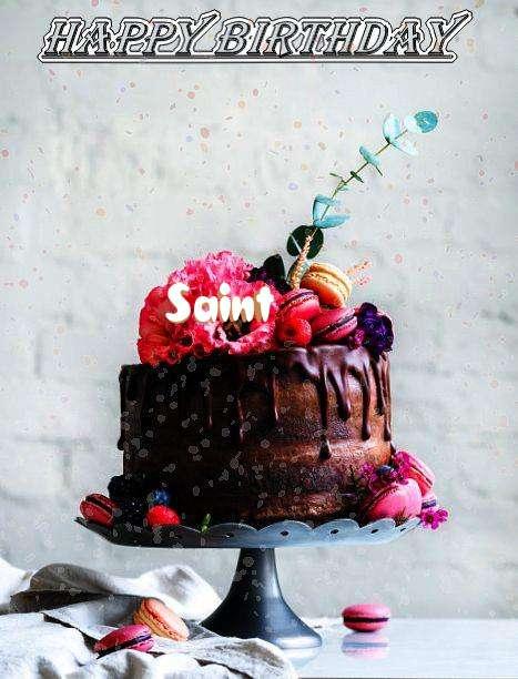 Happy Birthday Saint Cake Image