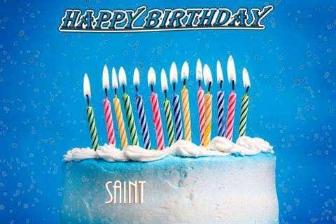 Happy Birthday Cake for Saint
