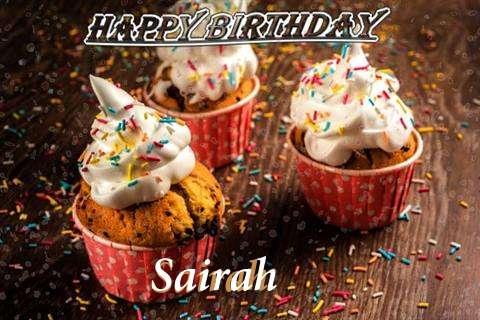 Happy Birthday Sairah Cake Image