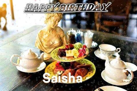 Happy Birthday Saisha Cake Image