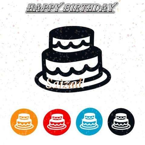 Happy Birthday Saizad Cake Image