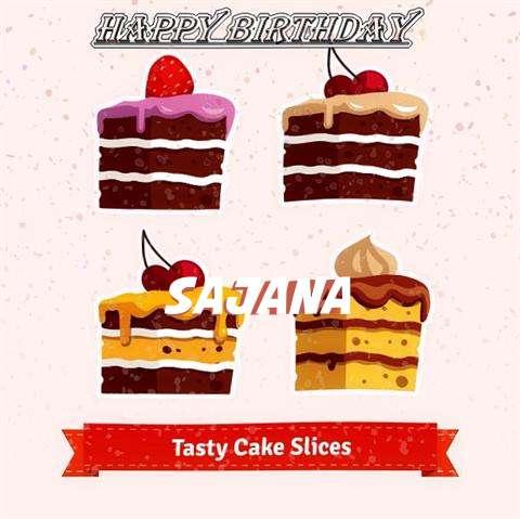 Happy Birthday Sajana Cake Image