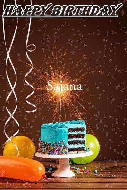 Happy Birthday Cake for Sajana