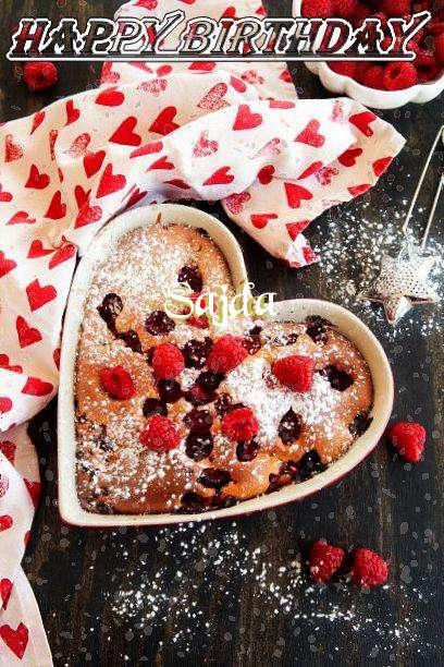 Happy Birthday Sajda Cake Image
