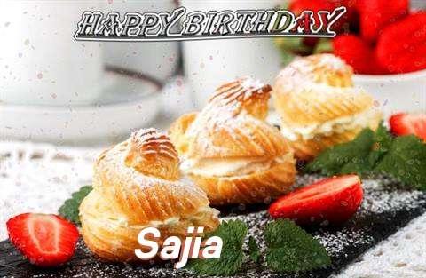 Happy Birthday Sajia Cake Image