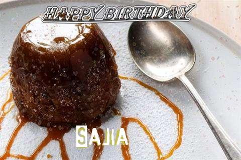 Happy Birthday Cake for Sajia