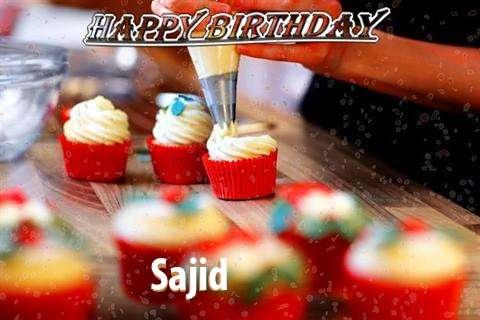 Happy Birthday Sajid Cake Image