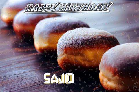 Birthday Images for Sajid