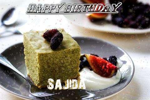 Happy Birthday Sajida Cake Image
