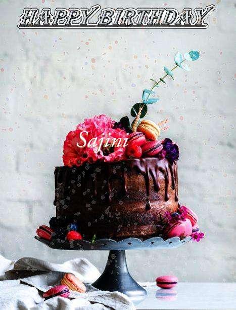 Happy Birthday Sajini Cake Image