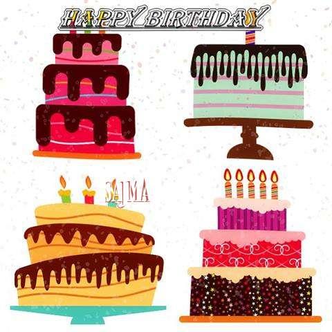 Happy Birthday Sajma Cake Image