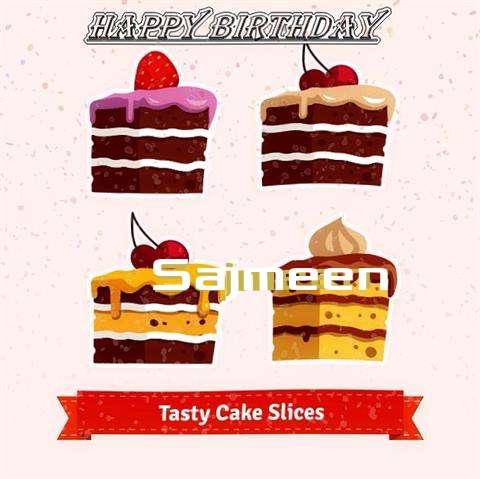 Happy Birthday Sajmeen Cake Image