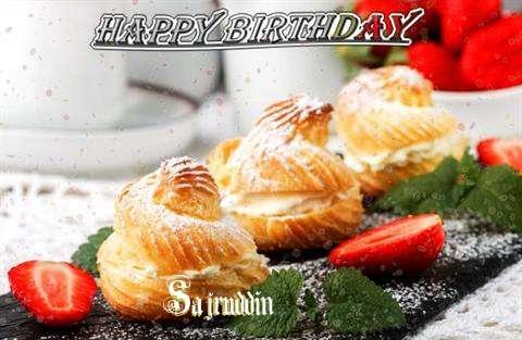 Happy Birthday Sajruddin Cake Image