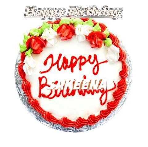 Happy Birthday Cake for Sakeena