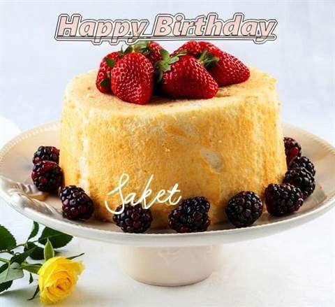 Happy Birthday Saket Cake Image