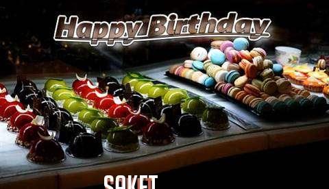 Happy Birthday Cake for Saket