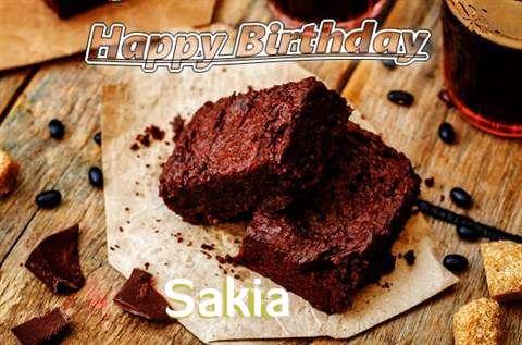 Happy Birthday Sakia Cake Image