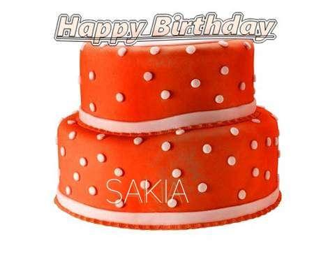 Happy Birthday Cake for Sakia