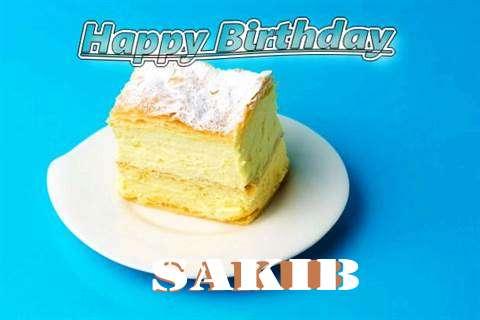Happy Birthday Sakib Cake Image