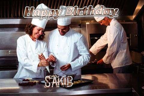Happy Birthday Cake for Sakib