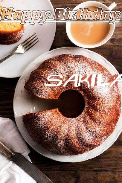 Happy Birthday Sakila Cake Image