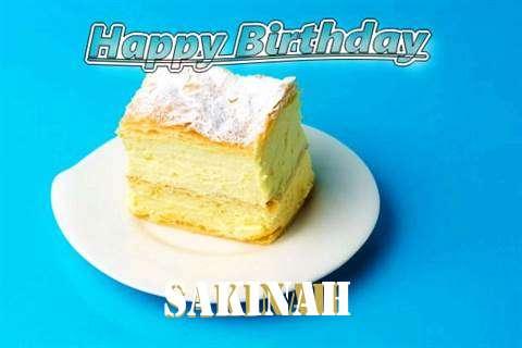 Happy Birthday Sakinah Cake Image