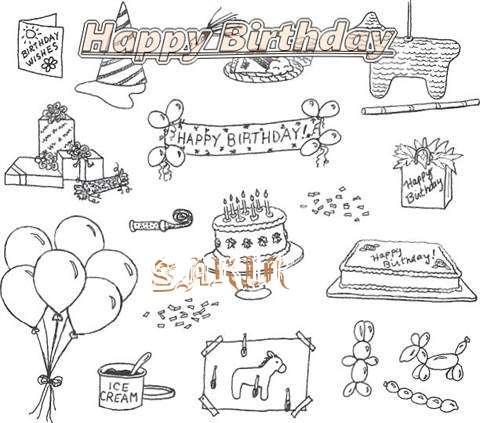 Happy Birthday Cake for Sakir
