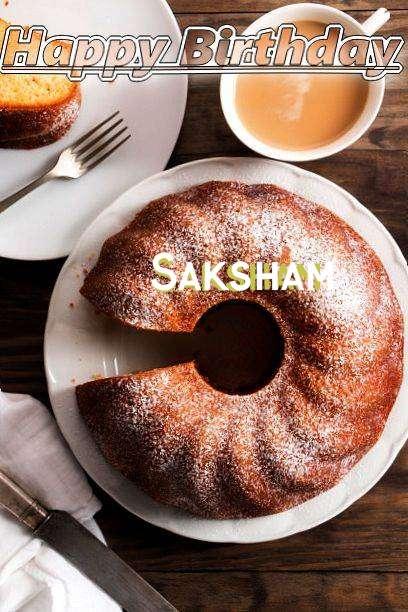 Happy Birthday Saksham Cake Image