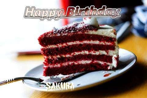 Happy Birthday Cake for Sakura