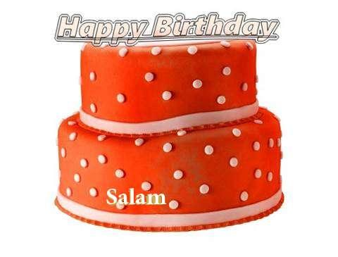 Happy Birthday Cake for Salam